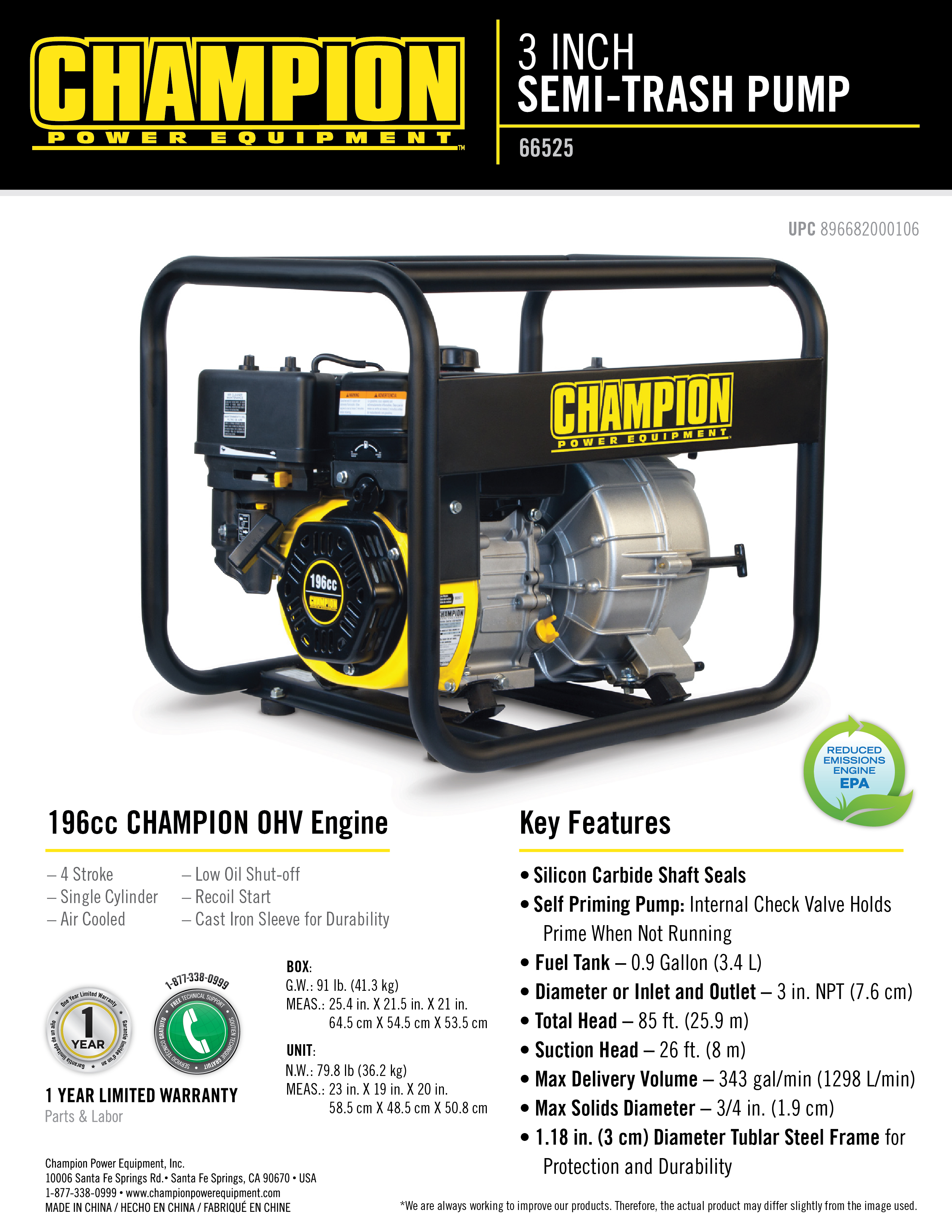 Champion Water Pump 66525 Absolute Pumps 196cc Wiring Diagram Owner Manual