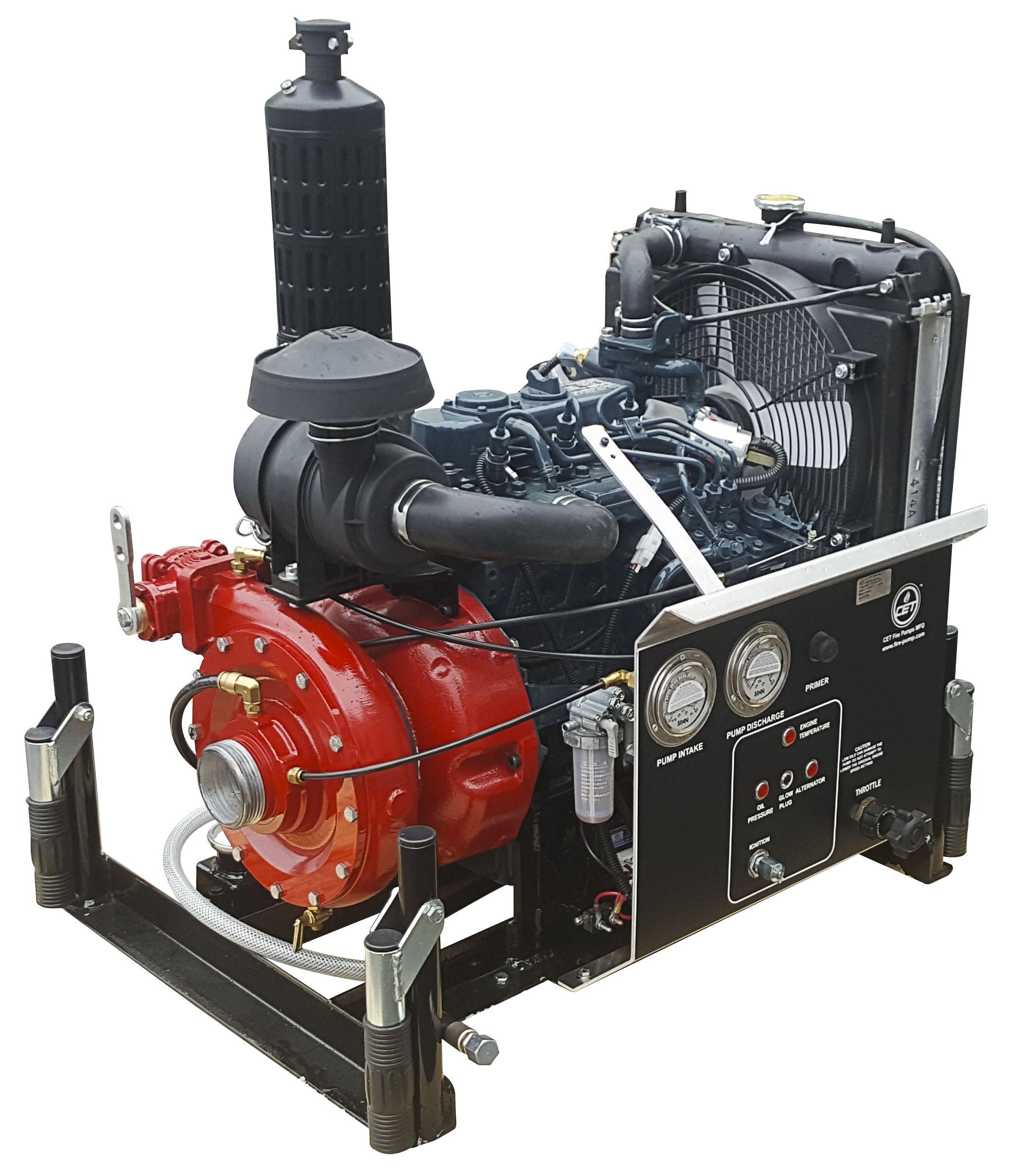 CET Fire Pumps High Pressure Pump - PFP-25HP-DSL-MR | Absolute Water